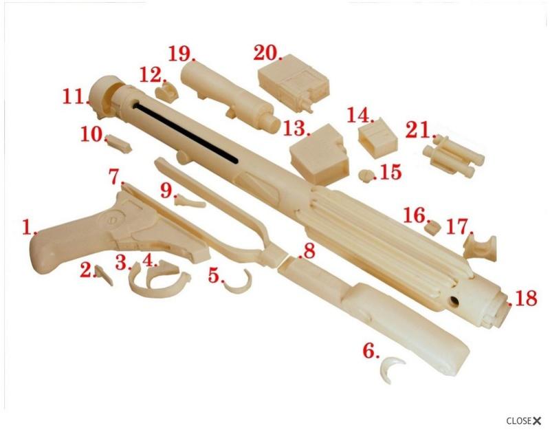 Les différents modèles de blasters E-11 Captur23