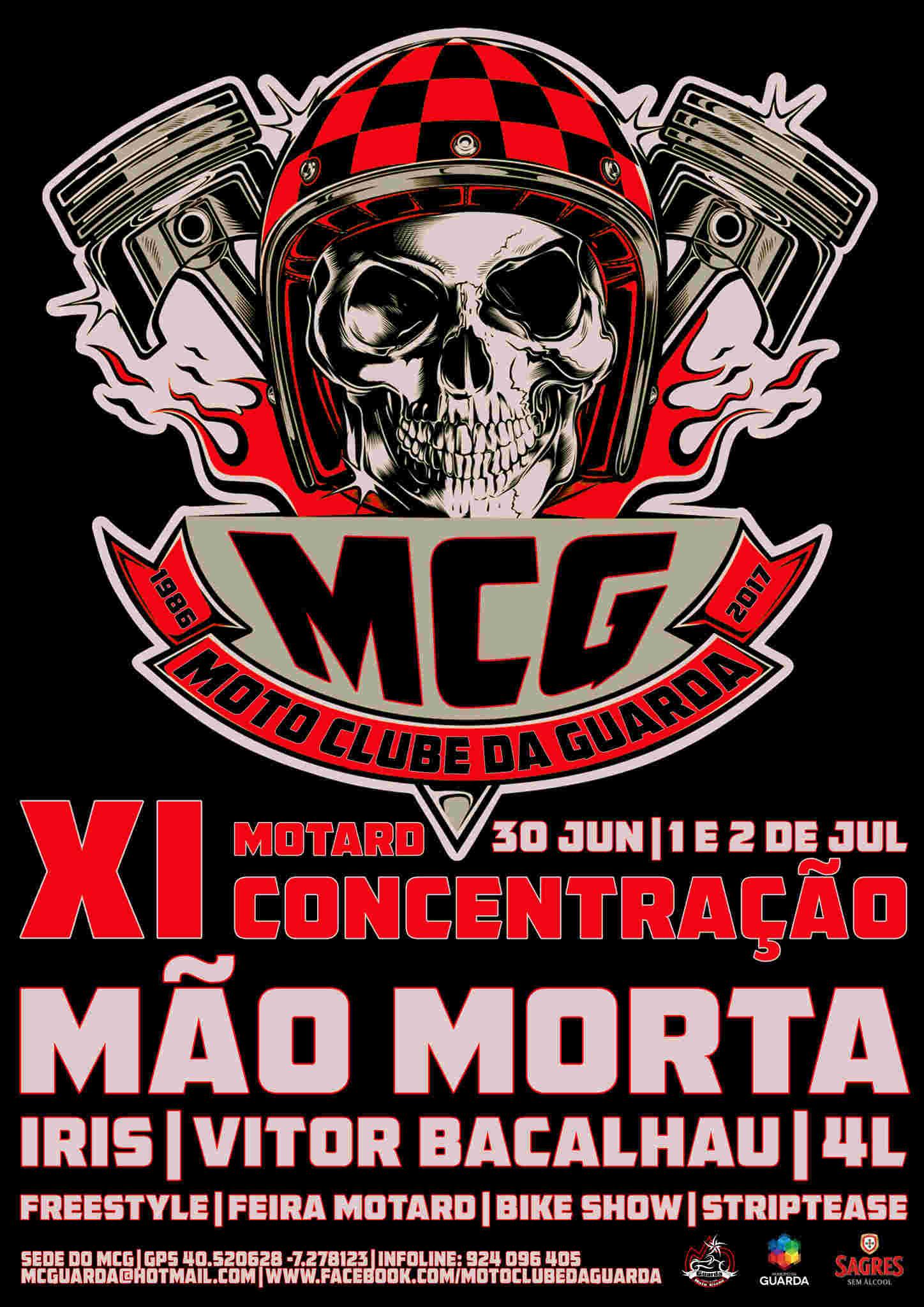 XI Concentração Motard Moto Clube da Guarda Cartaz10