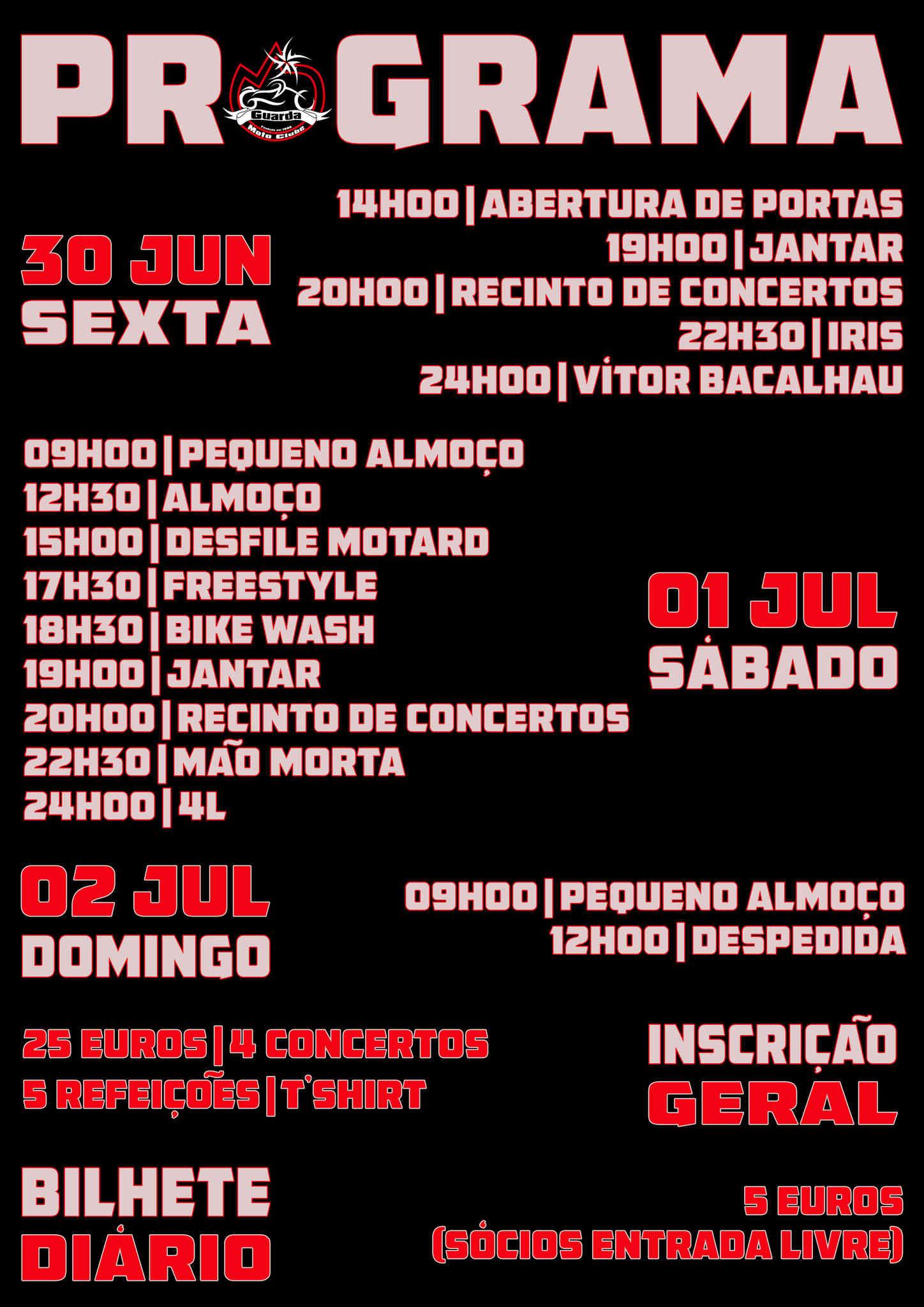 XI Concentração Motard Moto Clube da Guarda Progra10