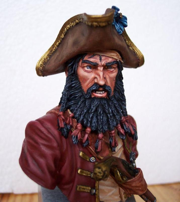 Young Miniature-Blackbeard 1718, Queen AnnesRevenge-Resinbüste 1/10 Blackf10