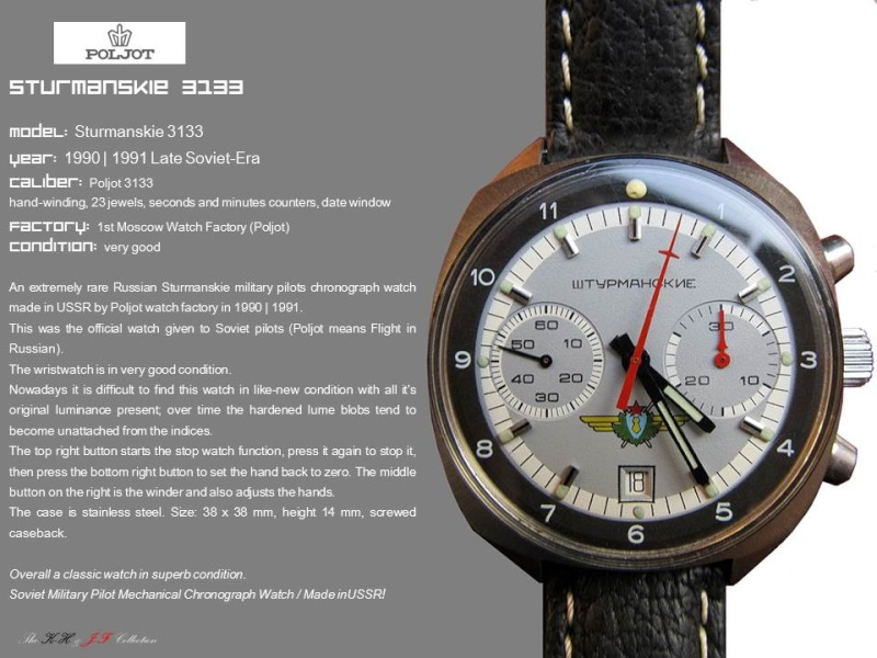 nouvelle presentation de la collection chrono Poljot - besoin de votre aide ;) Folie410