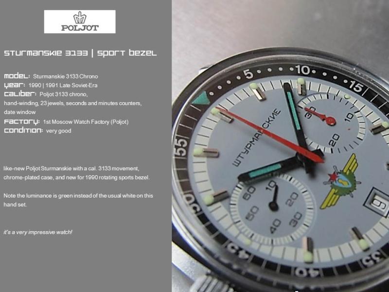 nouvelle presentation de la collection chrono Poljot - besoin de votre aide ;) Folie710