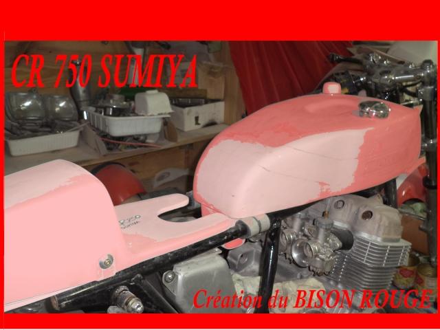 Création carrosserie CR 750 SUMIYA sur CB 750 Dsc07622