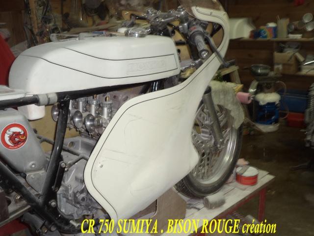 Création carrosserie CR 750 SUMIYA sur CB 750 Dsc07632