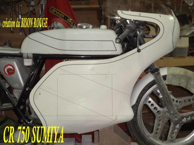 Création carrosserie CR 750 SUMIYA sur CB 750 Dsc07633