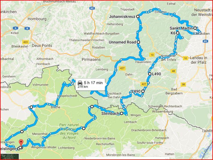Le Pfalzerwald  RB en Sud-Germania Captur10
