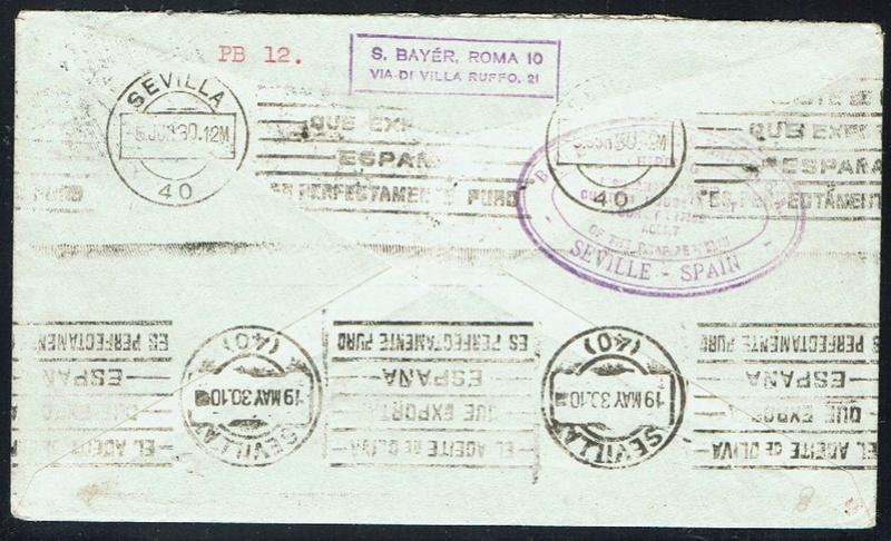 nach - Südamerikafahrt 1930, Post nach Sevilla - Seite 2 57_i_n13