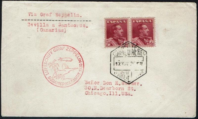 nach - Südamerikafahrt 1930, Post nach Praia (Kapverdische Inseln) 58_da10
