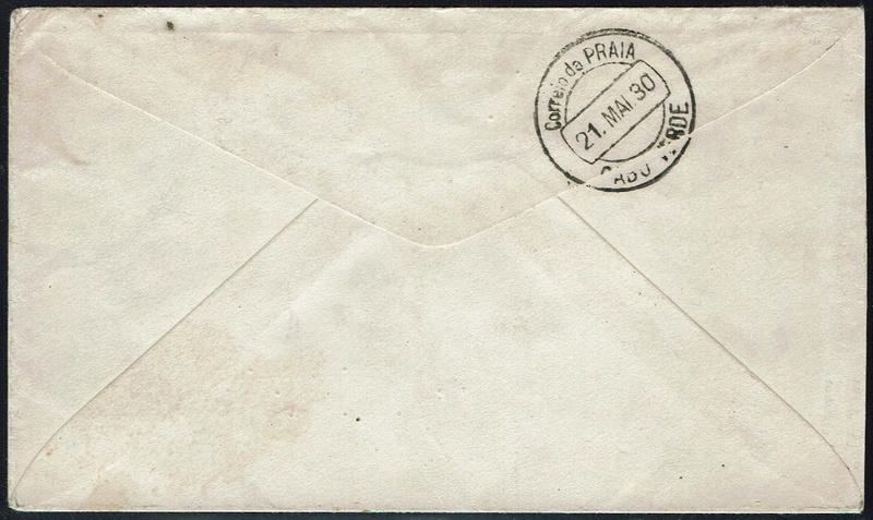 nach - Südamerikafahrt 1930, Post nach Praia (Kapverdische Inseln) 58_da_10