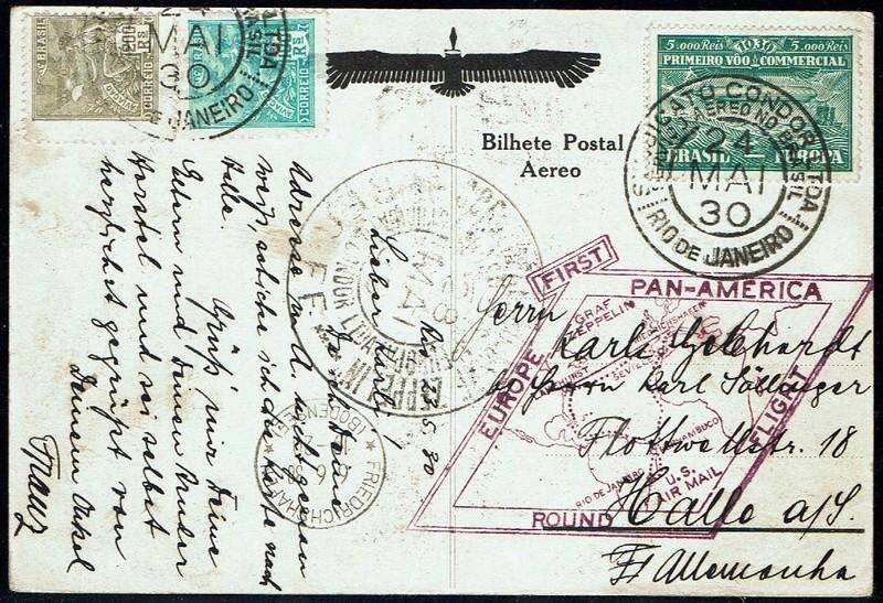 """nach - Südamerikafahrt 1930 (Rundfahrt-) Post nach Friedrichshafen"""" - Seite 7 59_a_c10"""