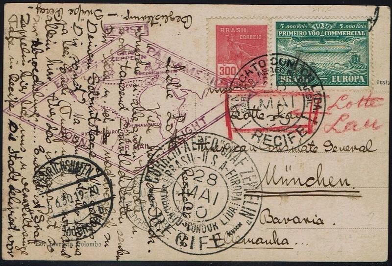 """nach - Südamerikafahrt 1930 (Rundfahrt-) Post nach Friedrichshafen"""" - Seite 7 59_a_r10"""