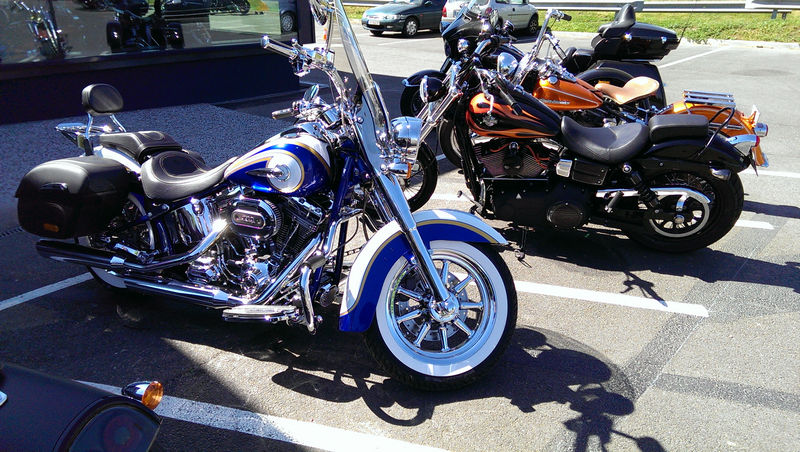 CVO Softail Deluxe 2014 Candy Cobalt: the Blue Diamond - Page 2 L_imag45