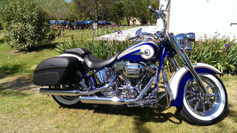 CVO Softail Deluxe 2014 Candy Cobalt: the Blue Diamond - Page 2 L_imag50