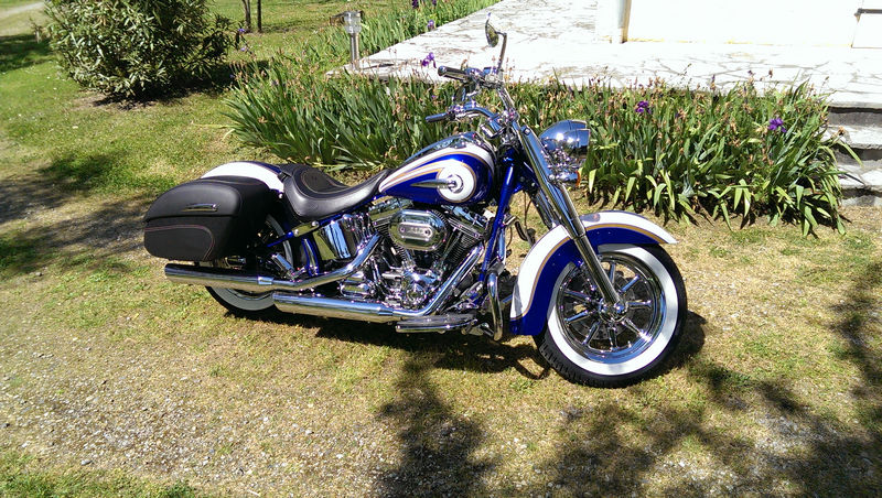 CVO Softail Deluxe 2014 Candy Cobalt: the Blue Diamond - Page 2 L_imag51