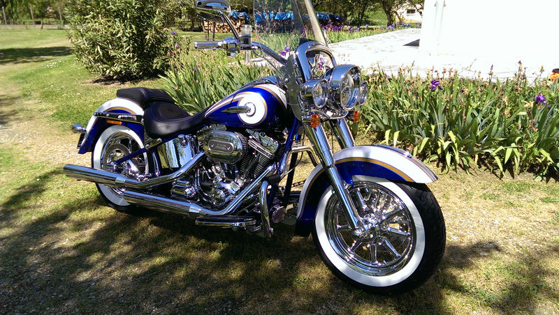 CVO Softail Deluxe 2014 Candy Cobalt: the Blue Diamond - Page 2 L_imag52