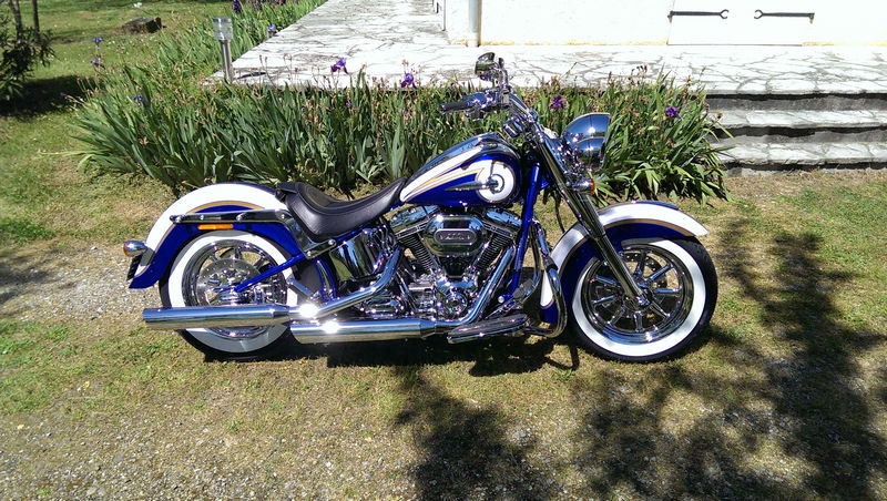 CVO Softail Deluxe 2014 Candy Cobalt: the Blue Diamond - Page 2 L_imag53