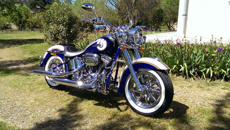 CVO Softail Deluxe 2014 Candy Cobalt: the Blue Diamond - Page 2 L_imag54