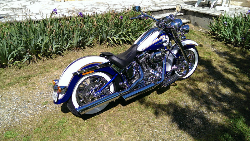 CVO Softail Deluxe 2014 Candy Cobalt: the Blue Diamond - Page 2 L_imag55