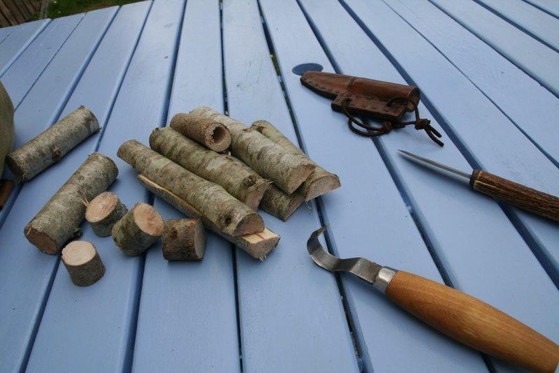 [Sculpture] Cuillère basique en bois 00110