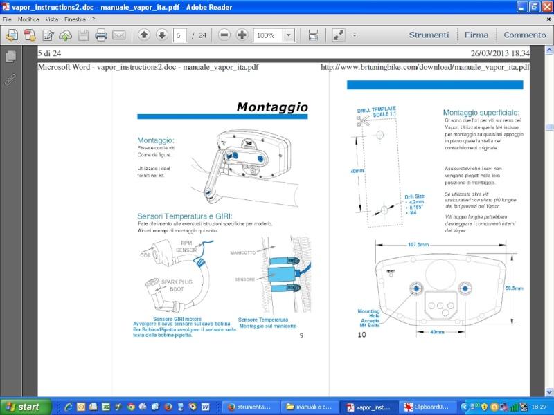 strumentazione digitale per HONDA XR su SUZUKI DR Vapor10
