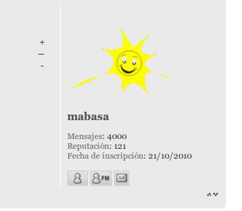 Enhorabuena al forero mabasa Mabasa10