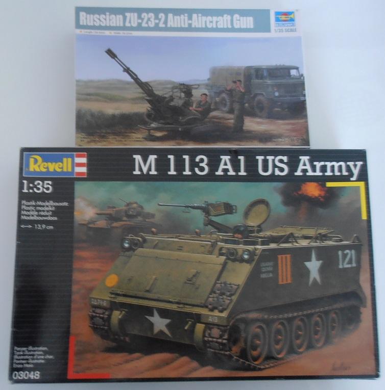 M113 bidouillé avec ZSU 23 (Revell, Trumpeter, scratch au 1/35eme ) P4061313