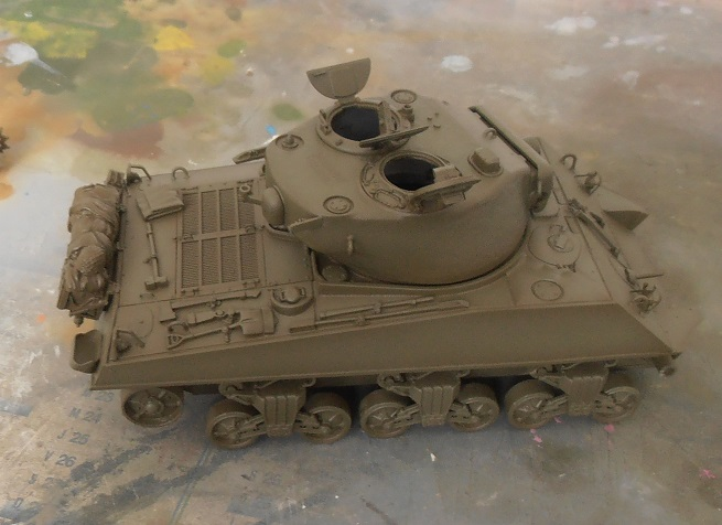 "Sherman M4a3 76 mm "" 2 eme DB ""  ( 1/35eme, dragon ) P4301625"