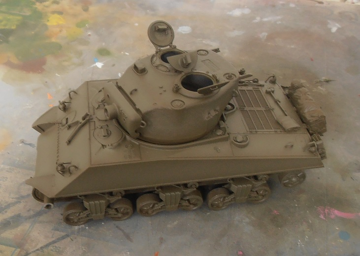 "Sherman M4a3 76 mm "" 2 eme DB ""  ( 1/35eme, dragon ) P4301627"