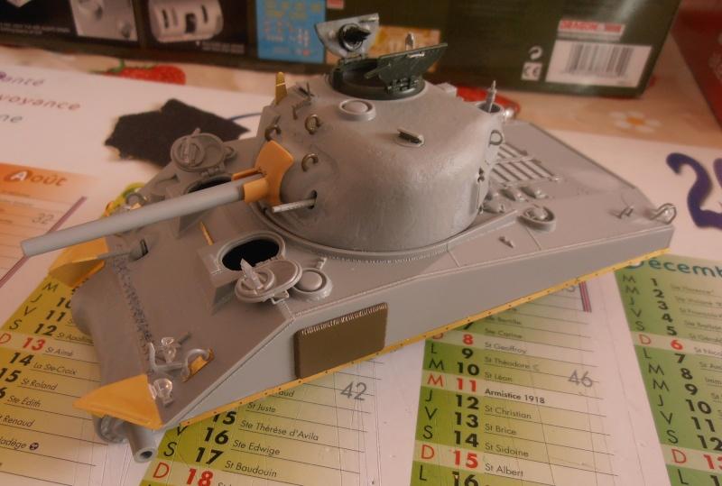 """Sherman M4A2 """" tarentaise """" et AMM 8 """" Massy """" ( la deco ). Pa141114"""