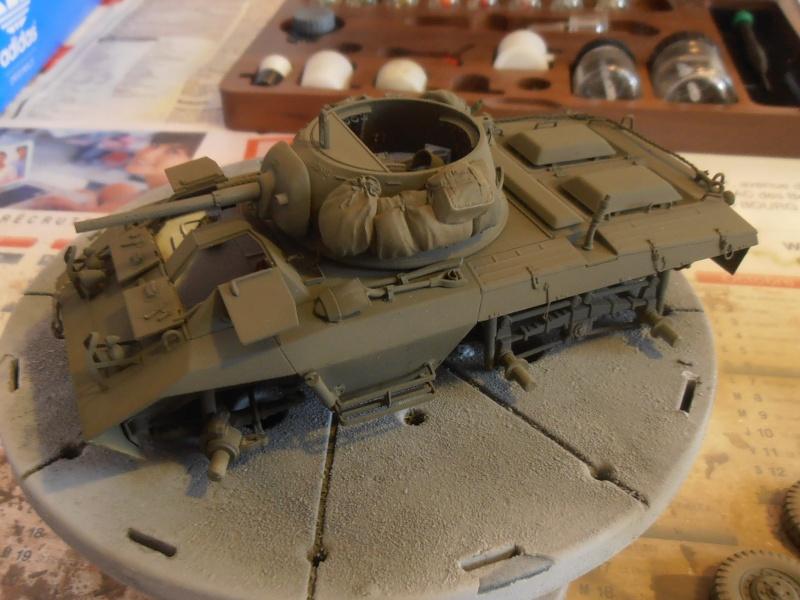 """Sherman M4A2 """" tarentaise """" et AMM 8 """" Massy """" ( la deco ). Pa201214"""
