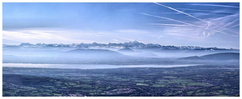 Chaîne du Mt Blanc vue du Jura Panofo12