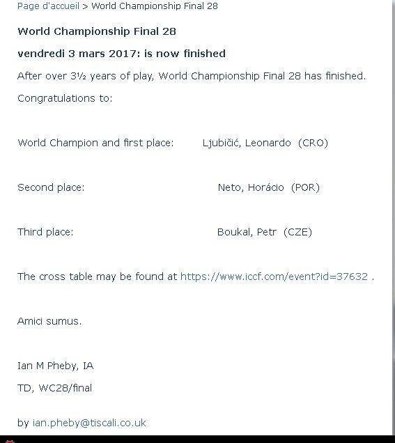 La 28ème finale du championnat du monde Papam10