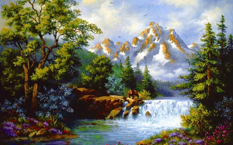Tous les paysages en peinture. - Page 8 Mounta10