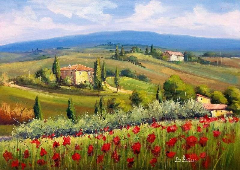 Tous les paysages en peinture. - Page 8 Tuscan10