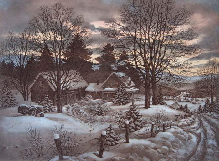 Tous les paysages en peinture. - Page 6 Winter10