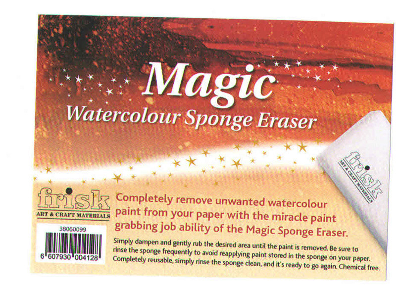 Frisk Magic Watercolour Sponge Eraser  Eponge10