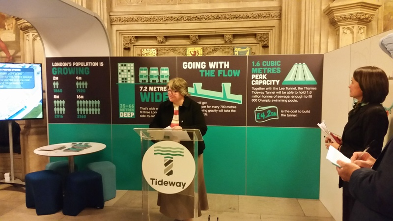 TAC visit to Tideway Tunnel Exhibition in Parliament 20170311