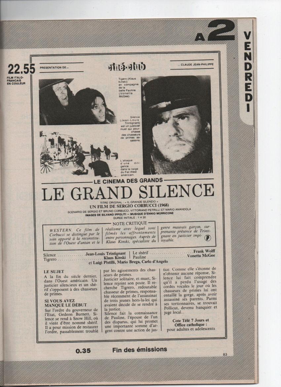 Le grand silence - Il grande silenzio - 1968 - Sergio Corbucci - Page 3 Numyri15