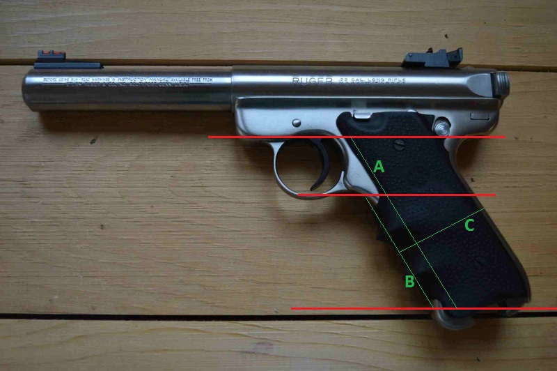 Taille crosse RUGER MARK 2 ou 3 Mk2_in11