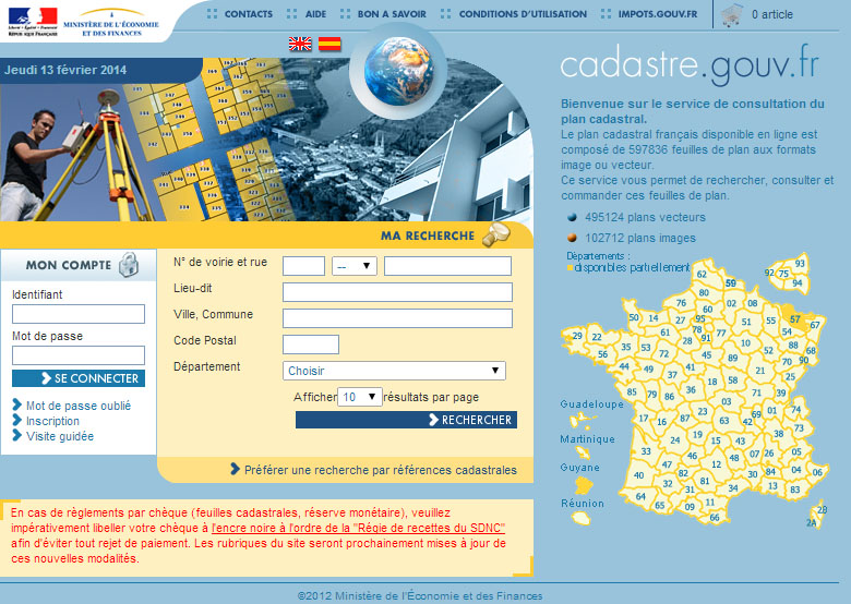 [ TECHNOLOGIE DU BATIMENT ] PIECES ADMINISTRATIVES - CERFA et Info complementaires Cadast10