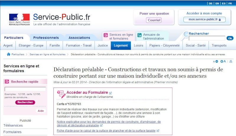 [ TECHNOLOGIE DU BATIMENT ] PIECES ADMINISTRATIVES - CERFA et Info complementaires Dp11