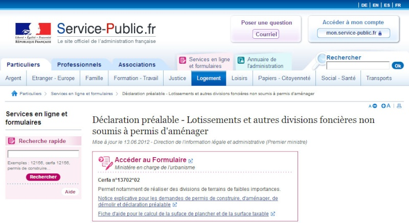 [ TECHNOLOGIE DU BATIMENT ] PIECES ADMINISTRATIVES - CERFA et Info complementaires Dp_lot10