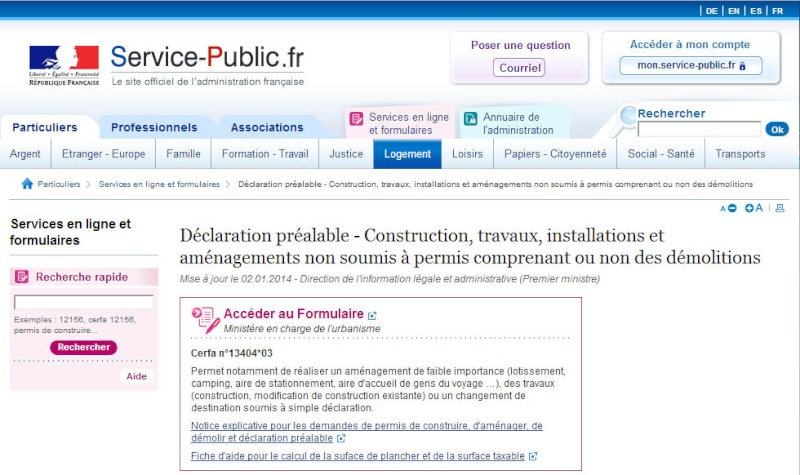 [ TECHNOLOGIE DU BATIMENT ] PIECES ADMINISTRATIVES - CERFA et Info complementaires Dp_tvx10