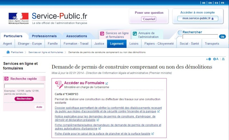 [ TECHNOLOGIE DU BATIMENT ] PIECES ADMINISTRATIVES - CERFA et Info complementaires Pc10