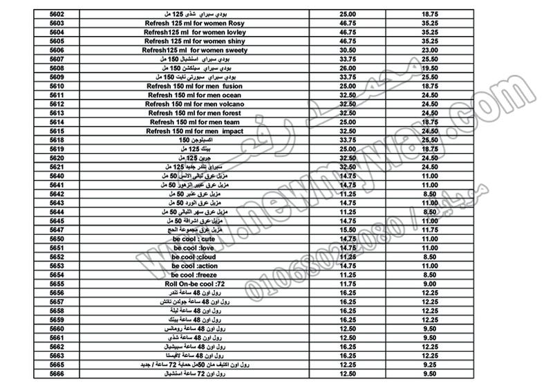 بيان اسعار منتجات ماى واى في شهر ابريل 2017  << سعر الكتالوج - سعر العضو - عدد النقاط >> 10_o13