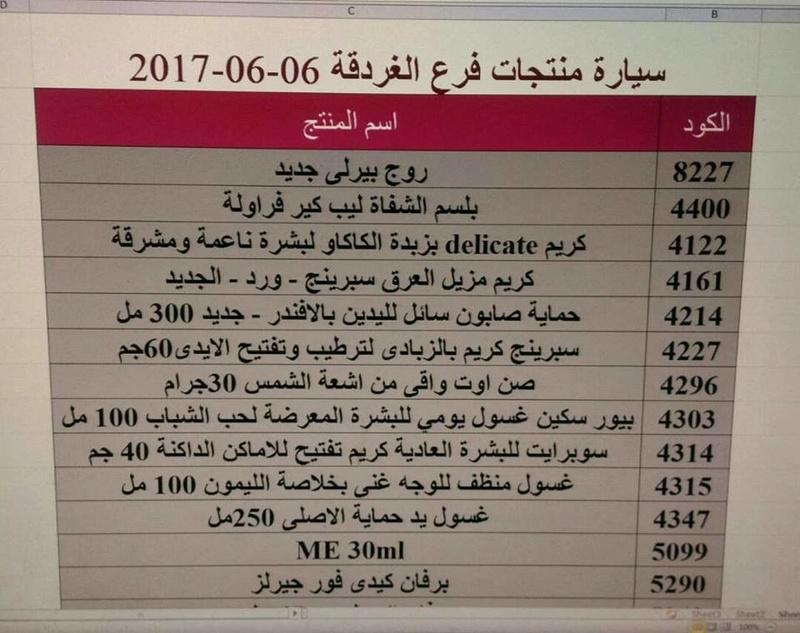منتجات ماى واى التى توفرت اليوم الثلاثاء 6-6-2017  بفرع الغردقه 15800340