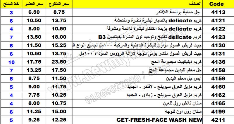 بيان اسعار منتجات ماى واى في شهر مارس 2017  << سعر الكتالوج - سعر العضو - عدد النقاط >> 16_o11