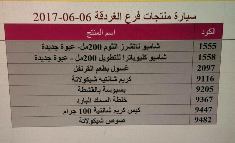 منتجات ماى واى التى توفرت اليوم الثلاثاء 6-6-2017  بفرع الغردقه 315