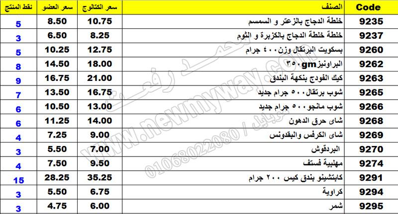 بيان اسعار منتجات ماى واى في شهر مارس 2017  << سعر الكتالوج - سعر العضو - عدد النقاط >> 43_o11