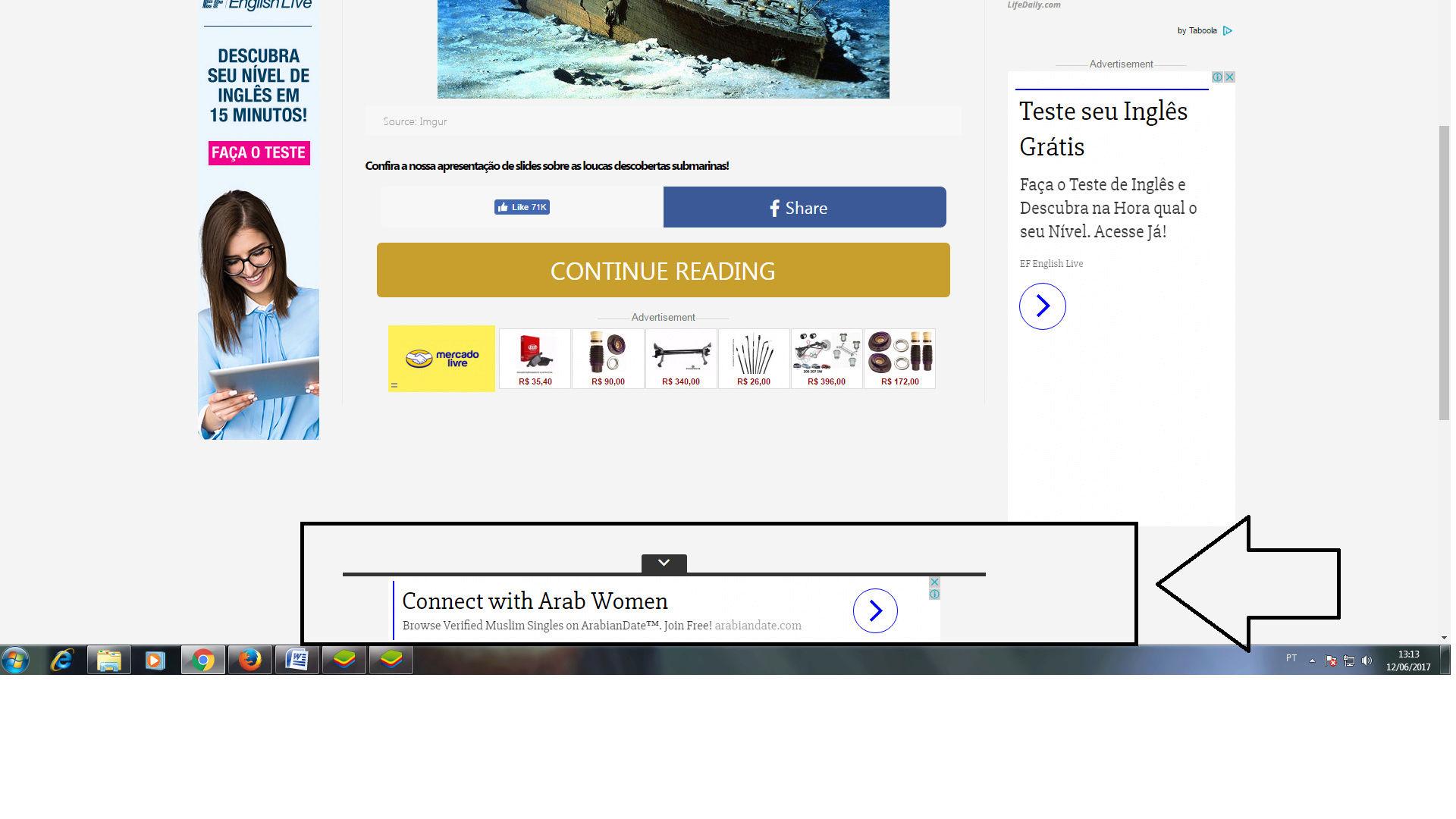 Como colocar este codigo de anuncio ao rodape igual deste site  Sem_ty14
